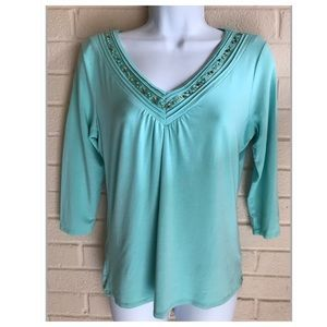 Style&Co Embellished Top